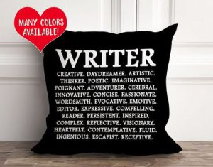 Writer Pillow from Etsy